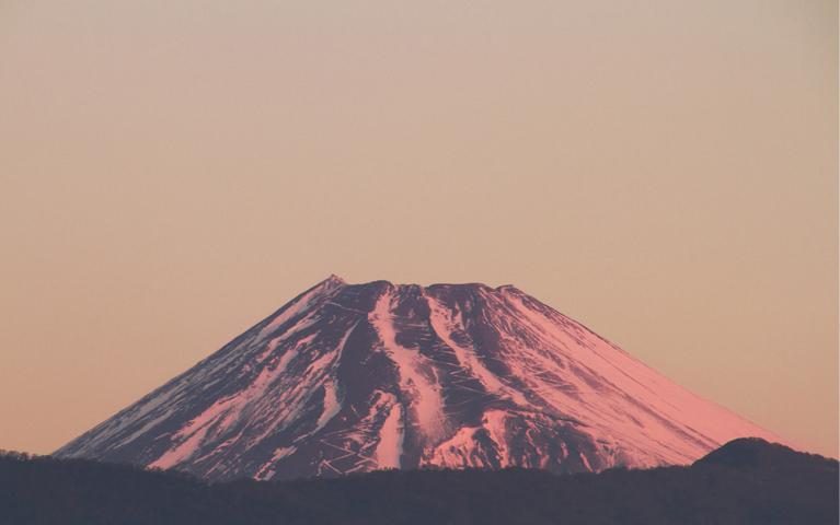 29日 6ー49 今朝の富士山-3