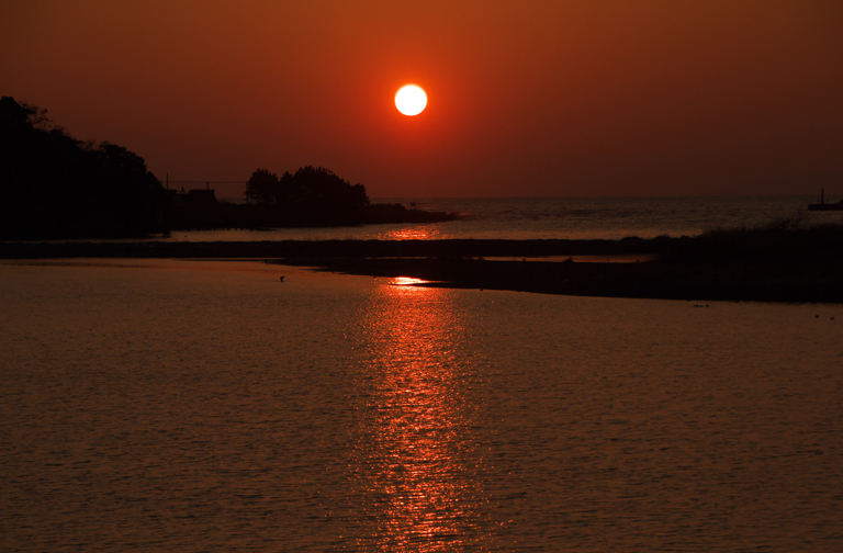 狩野川の夕陽-498