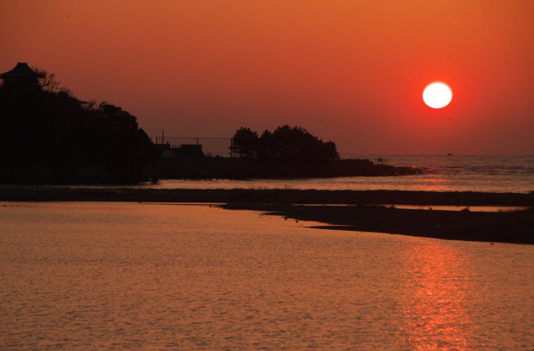 狩野川の夕陽-503-2