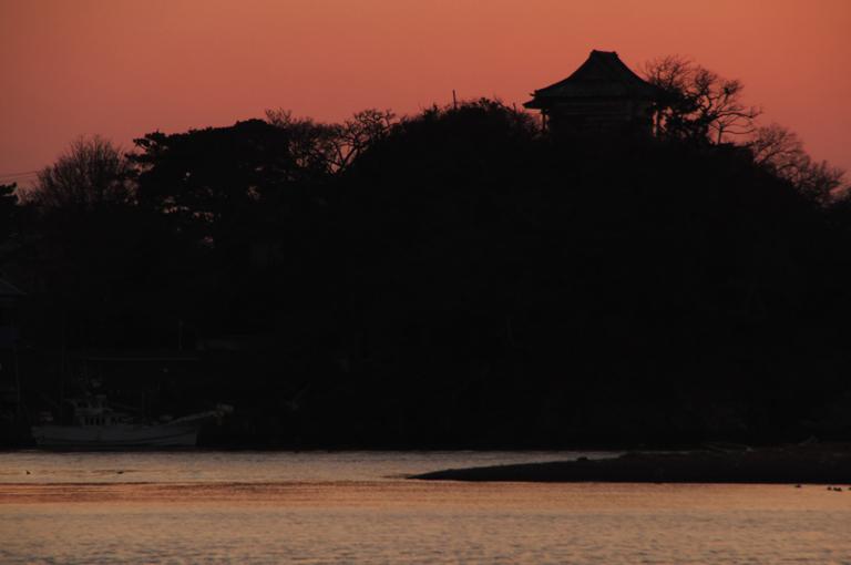 狩野川の夕陽-523-1
