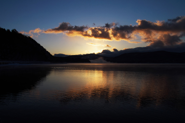 山中湖の新雪-752-7