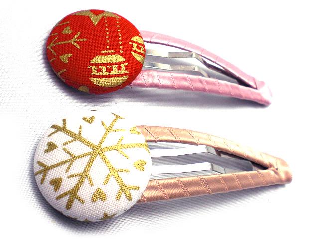 くるみボタンスリーピン クリスマスオーナメント