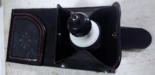 大島紬の革財布2