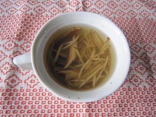 ゆずごぼうスープ