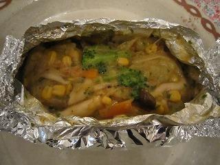 野菜のバターホイル焼き