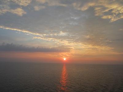 バルト海夕日