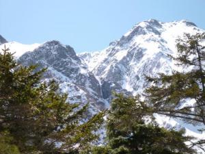 途中から見えた氷瀑。100m超か