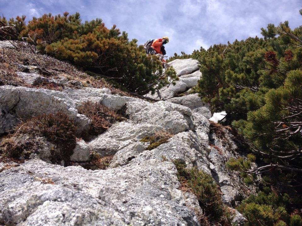 2峰への登り