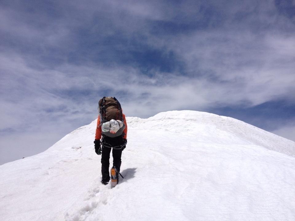 本峰への最後の登り