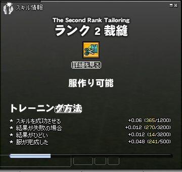RANK2成功トレ終了(ブリュ使用前)