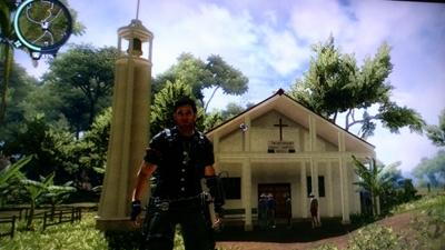 教会を発見