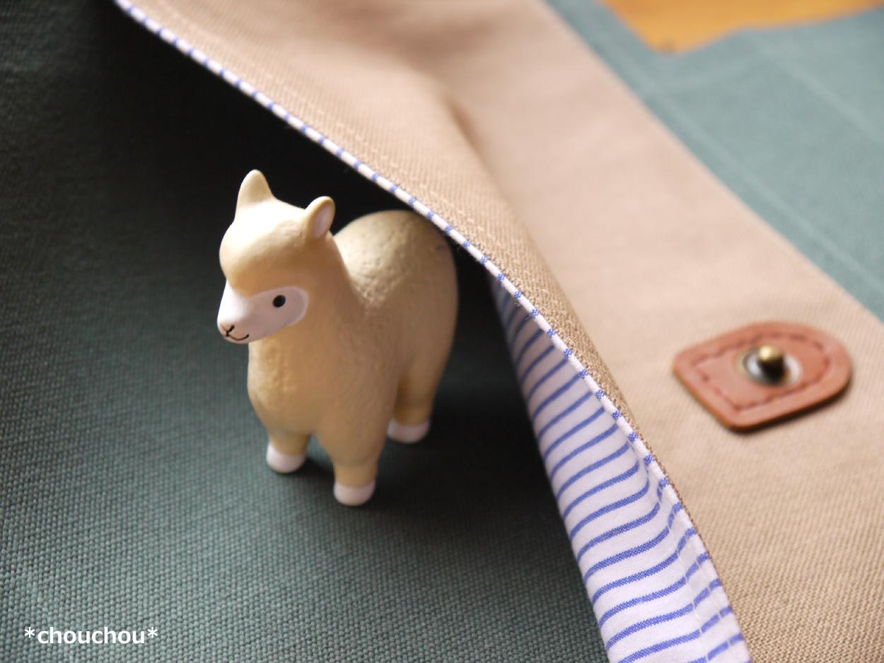 ポケット ストライプ 帆布