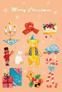 クリスマスポストカード2赤