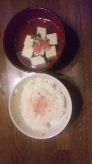 吸い物桜ご飯と桜