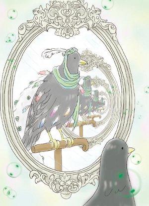 鏡の中のカラス_4