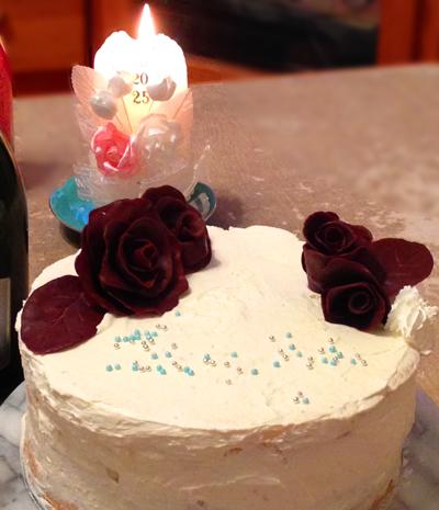 2014チョコ薔薇ケーキ全様