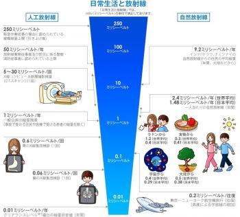 日常生活と放射線 ( 独立行政法人 放射線医学総合研究所 作成 )