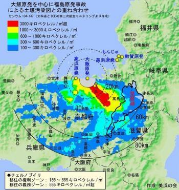 放射能汚染 ( 作成 : 美浜の会 )