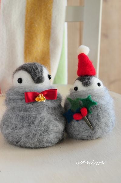 felting  Christmas penguins