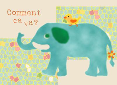 カフェ背景台紙(象さん)