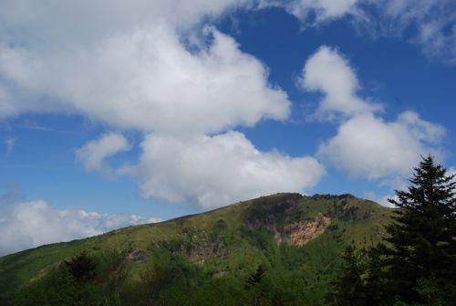 4四阿山の山頂をみて