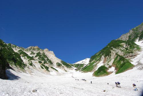3大雪渓を見上げると