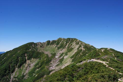 7お楽しみの大仙丈ヶ岳に向かって