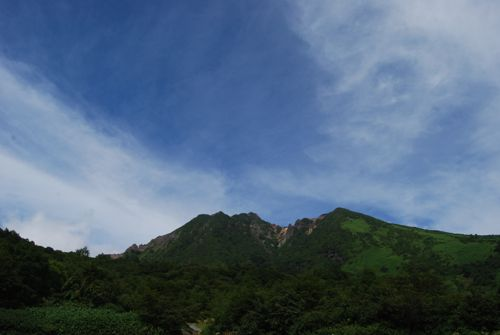 1峠の茶屋からの朝日岳