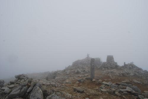 11山頂は雲の中
