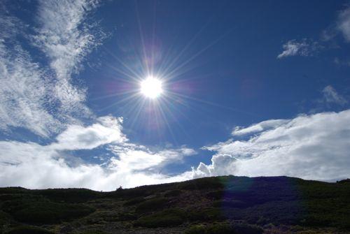 15中央アルプスの太陽