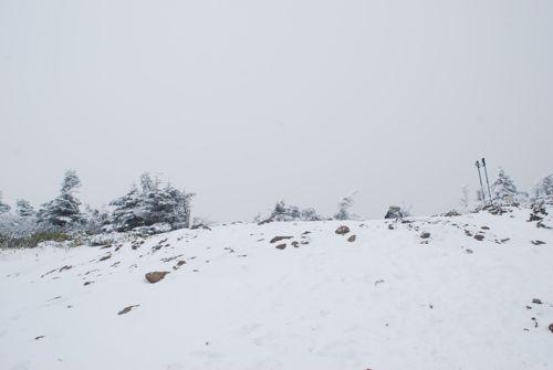 6稜線は雪山