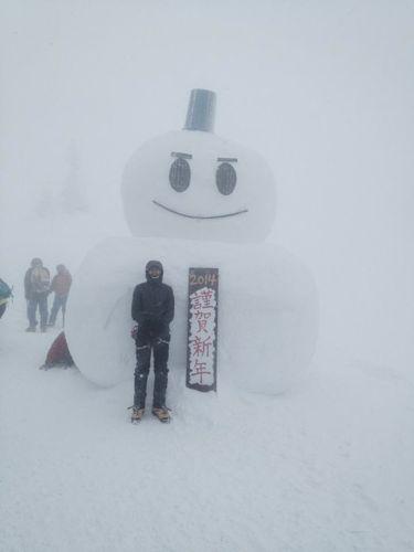 2西穂高山荘雪だるま