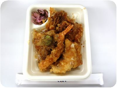 桜海老とふきのとうの天丼