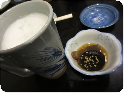 生ビール+お通し