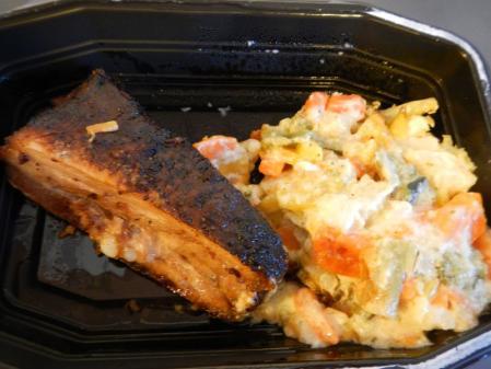 豚肉とサラダ