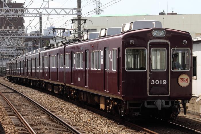廃車回送される3058F(上新庄)