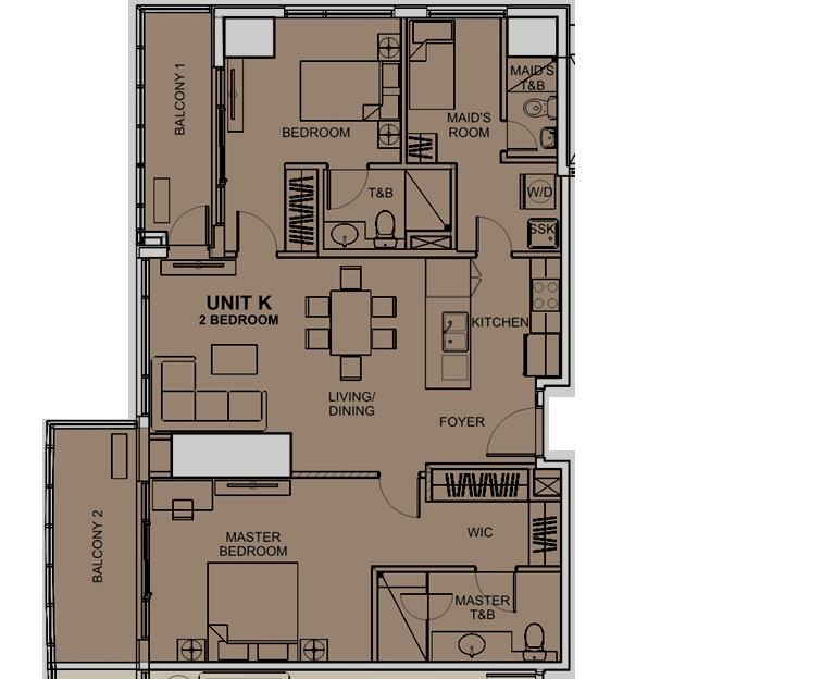 2 bedroom layout