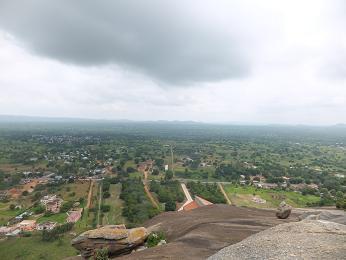 頂上から見る景色