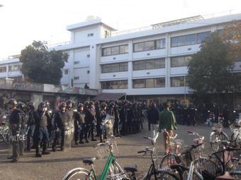 「令状見せろ!」京大熊野寮への家宅捜索で怒号・中核派は朝鮮人多数の殺人テロ集団・NHKは身内