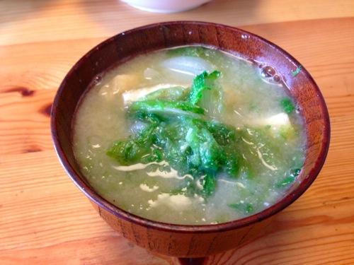 3アーサ(あおさ)の味噌汁
