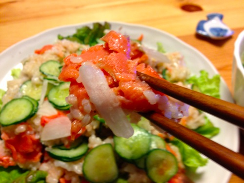 サラダ寿司アップ