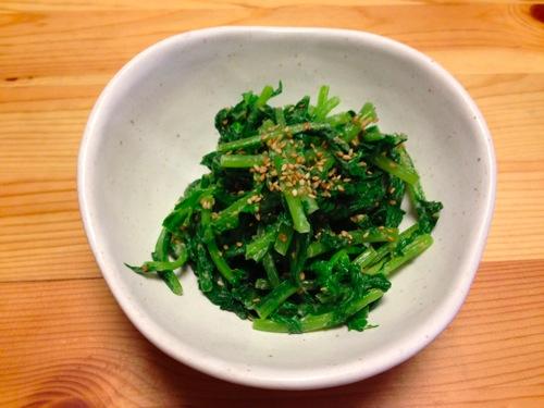 1大根菜の胡麻和えjpg