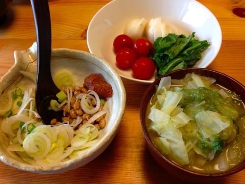 3納豆・ぬか漬け・味噌汁
