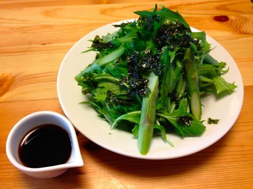 1韓国海苔のグリーンサラダ