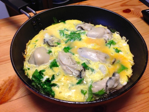 5牡蠣・わさび菜・玉子焼き