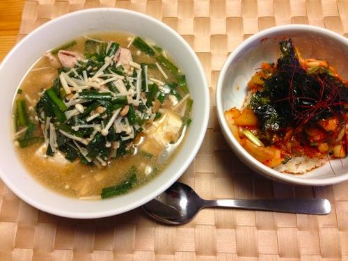 1韓国味噌夜食
