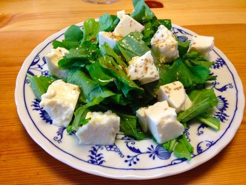1豆腐サラダ