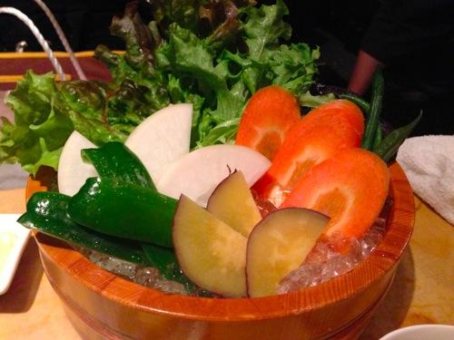 2野菜の刺身