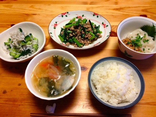 1健康バランス夕食