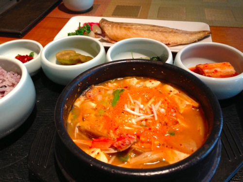 1味噌チゲ定食